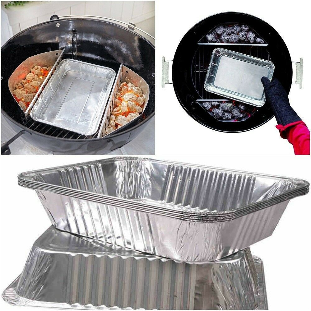 Details About Bbq Disposable Aluminum Foil Pans Baking Container