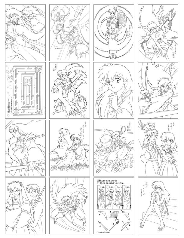 inuyasha coloring pageswallpaperspictures - Inuyasha Coloring Pages