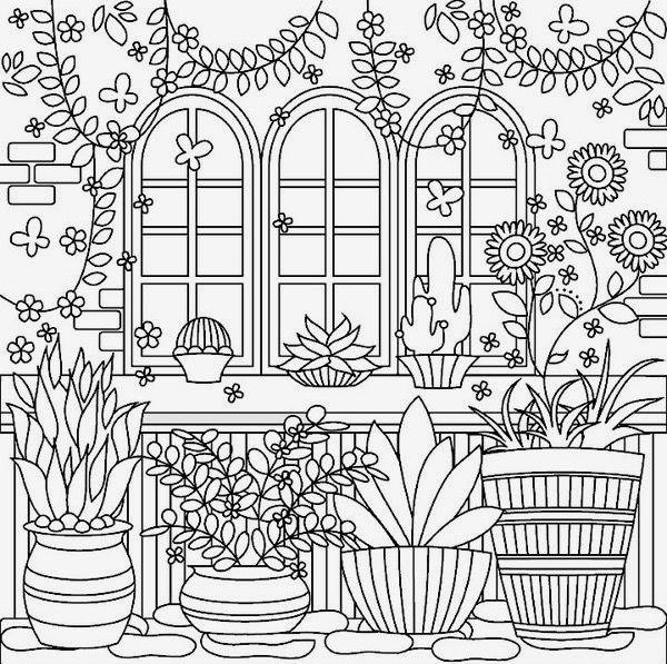 Garden Coloringpage On Colorfy App