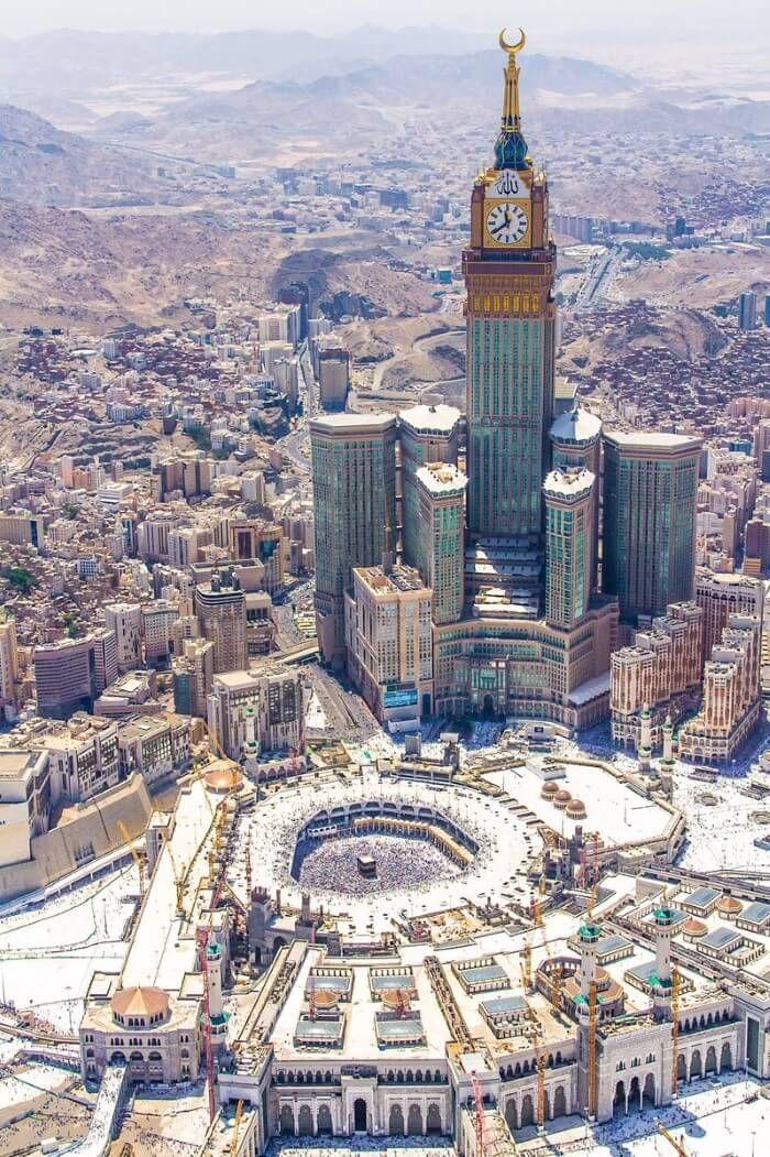 إطلالة رائعة للحرم المكي الشريف في مكة المكرمة Wallpaper Islami Gedung Pencakar Langit Pencakar Langit