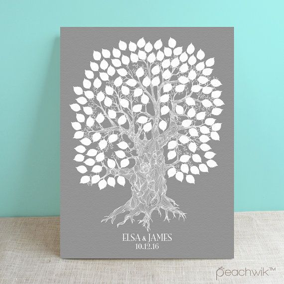 Interactive Wedding Ideas: Guest Book Oak Tree