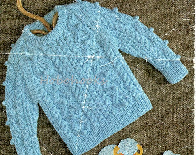 baby bobble stitch cardigans & sweater knitting pattern | tejido ...