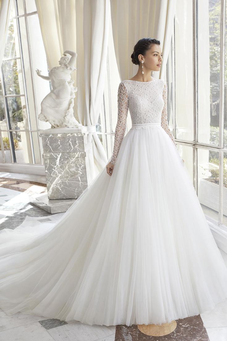 25 vestidos de novia con encajes geométricos, ¡precisos y encantadores!