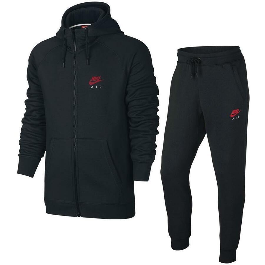 Nike Air Heritage Fleece Herren Trainingsanzug Hoodie Jogginghose Anzug 2 Teilig Fleece Herren Heritage Nike Jacket Athletic Jacket Casual Fashion