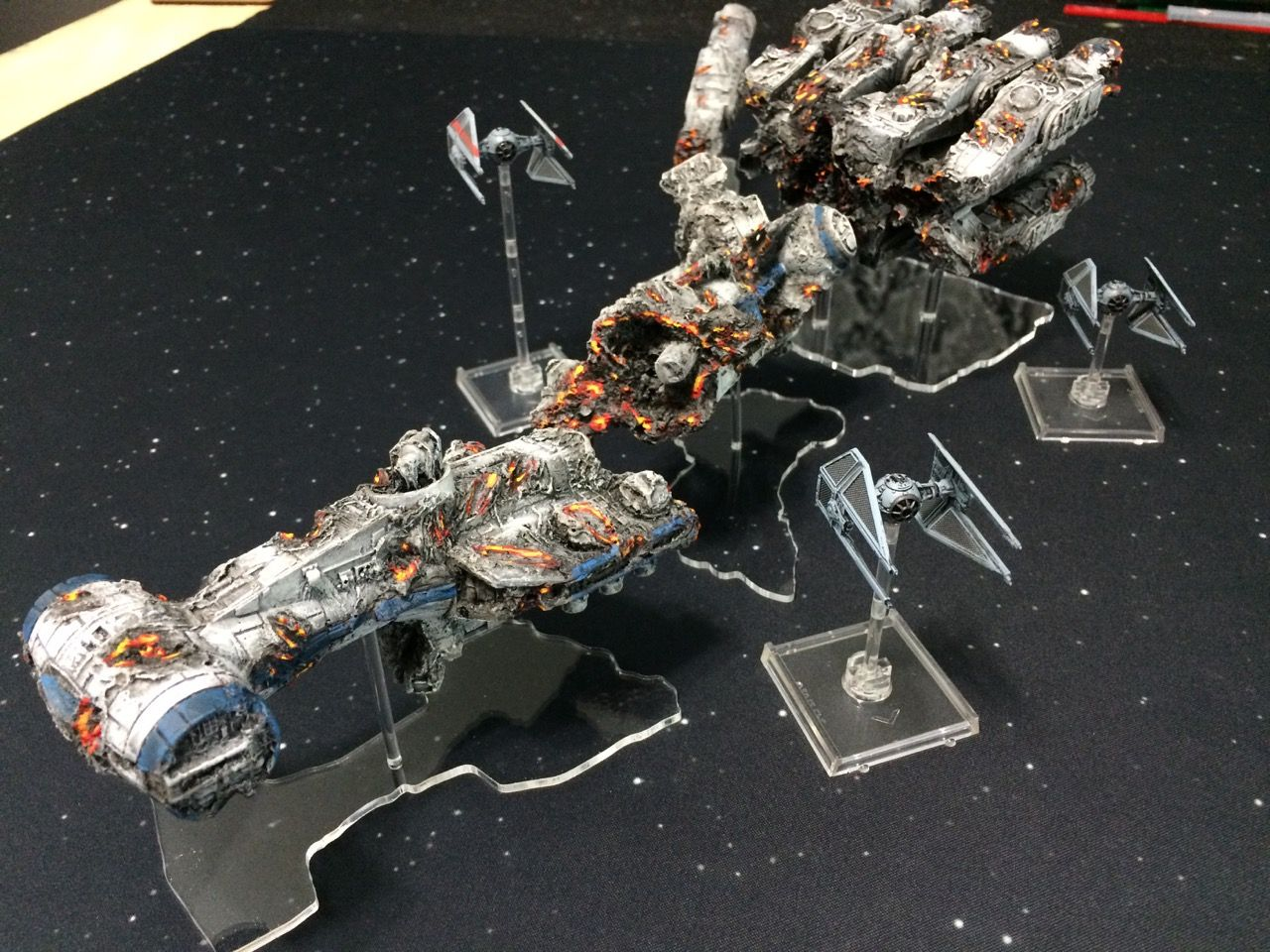 Space Rocks Destroyed Blockade Runner For Star Wars X Wing Review And Gallery Wwpd Wargames Board Game Star Wars Awesome Star Wars Models X Wing Miniatures