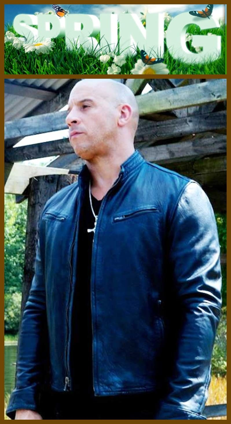 #Black #Leather Jacket is worn by famous #Star #Celebrity #VinDiesel in the #FastandFurious7 #Movie #Series . He worn this #Attractive #Leather #Jacket during the #Shooting of #FastandFurious7 .