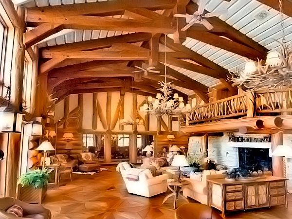Log Home by nanette A Log Cabin in the Enchanted Wood Pinterest