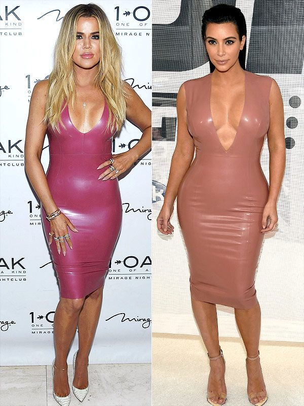 1a3485f9fc8 Khloé Kardashian Takes a Style Note from Kim in Pink Latex Dress