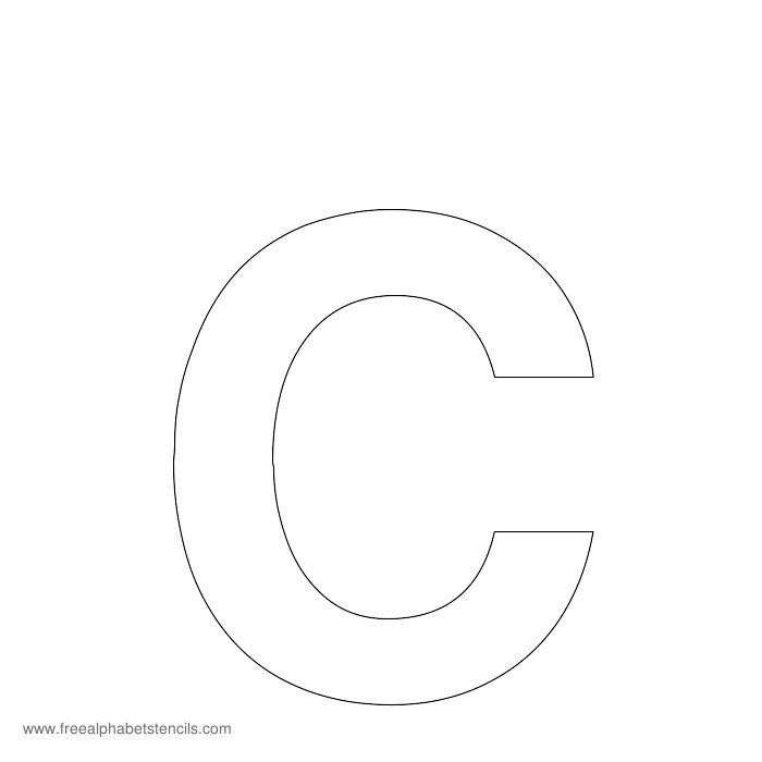 Large letters to print Arial Bold Alphabet Stencil C school ideas
