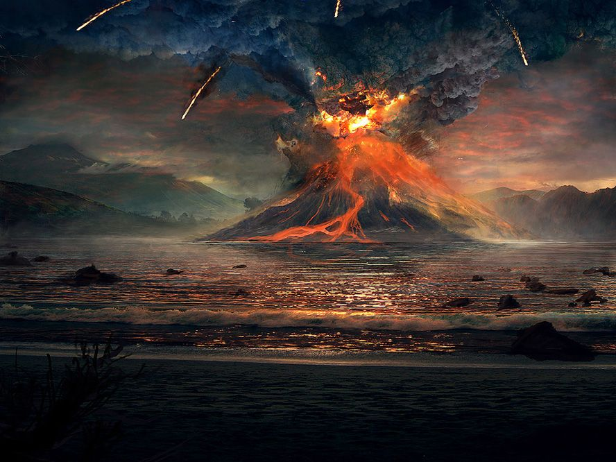 Volcano by Susiron Watch Digital Art / Drawings & Paintings ...