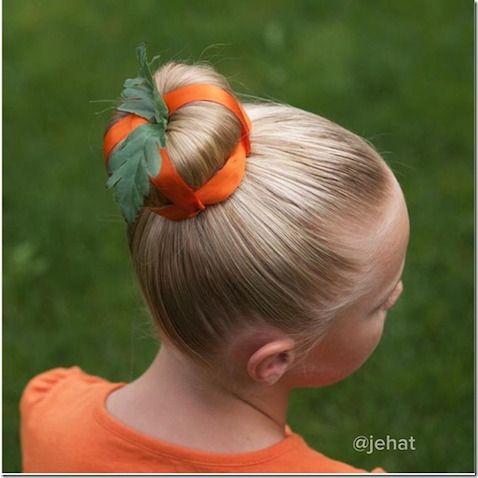 peinado para disfraz calabaza casero halloween | halloween