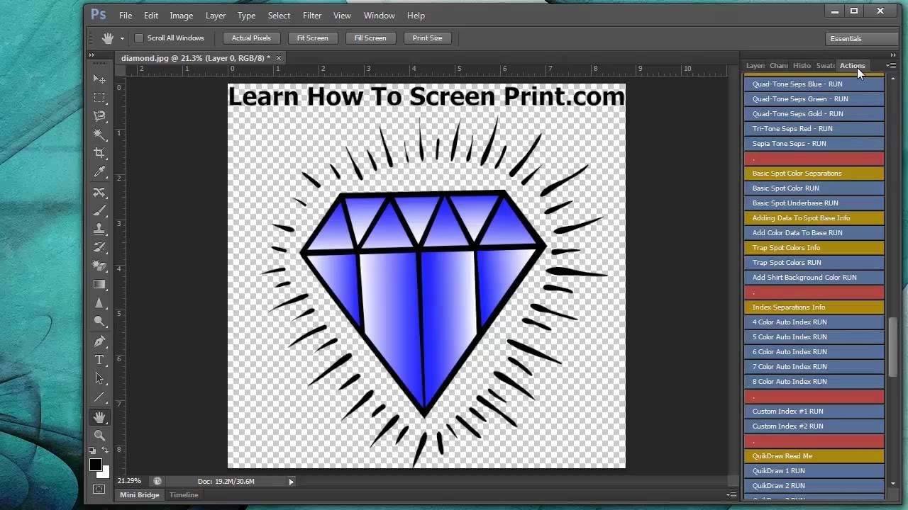 How To Make Halftone Screen Printing Color Separations In Photoshop With