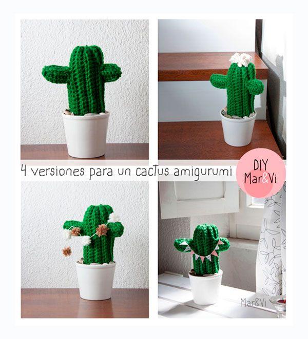 Cómo hacer un amigurumi: cáctus amigurumi   manualidades   Pinterest ...