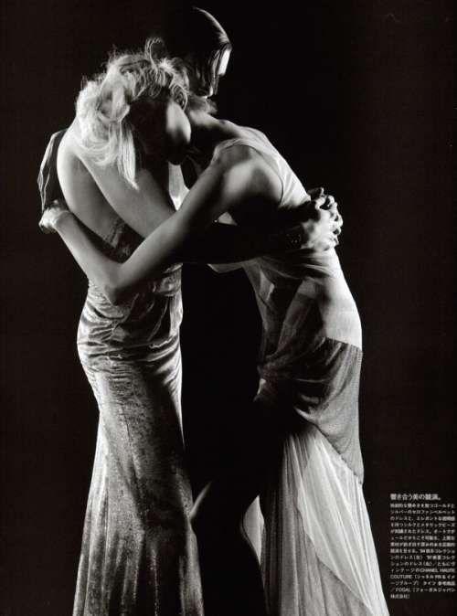 Karl Lagerfeld Shoots Baptiste Giabiconi in Women's Clothing #dress #fashion trendhunter.com