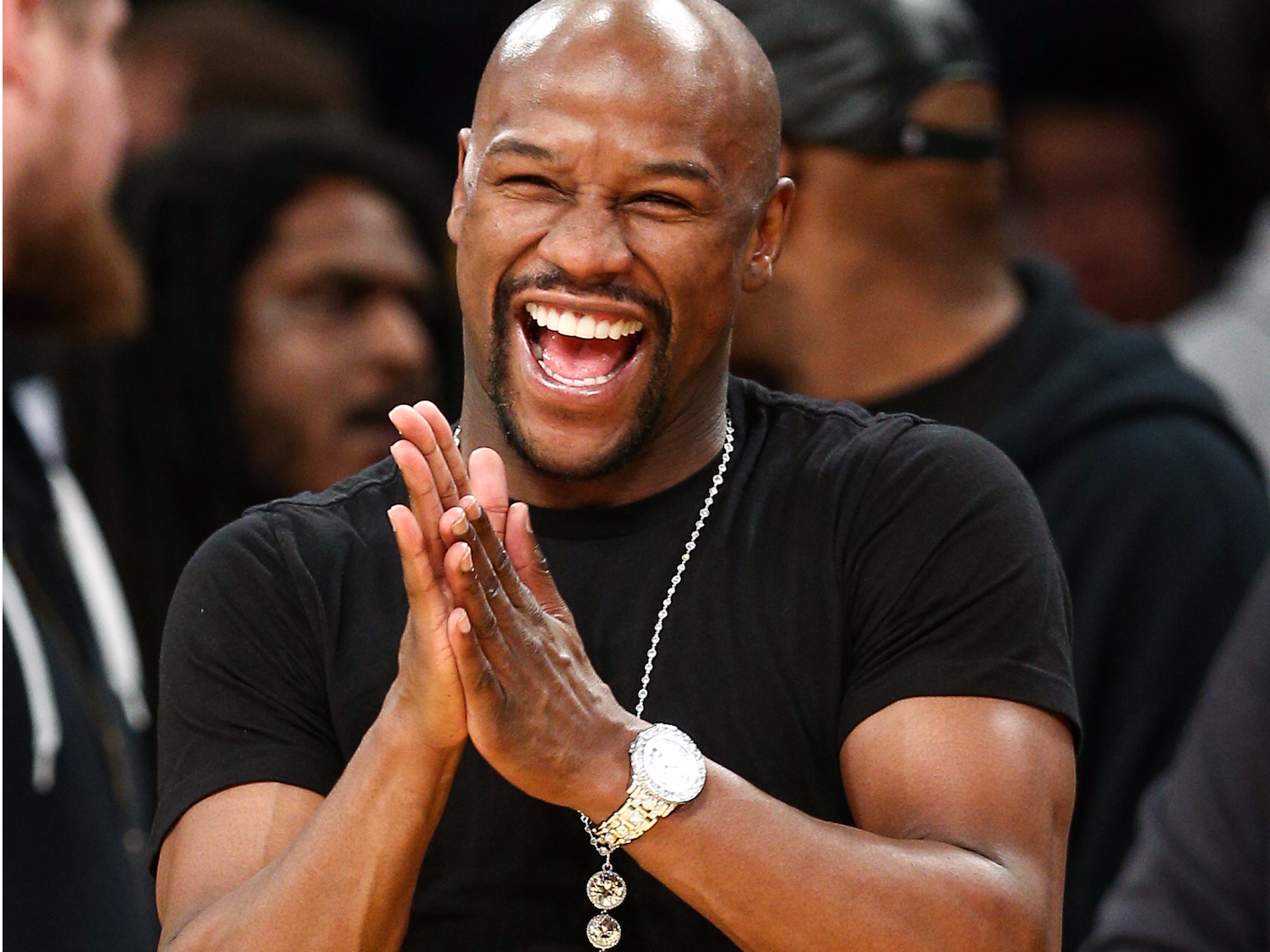 Floyd Mayweather Is Promoting Another Initial Coin Offering You Can Call Me Floyd Crypto Mayweather Floyd Mayweather Oscar De La Hoya Boxing Workout