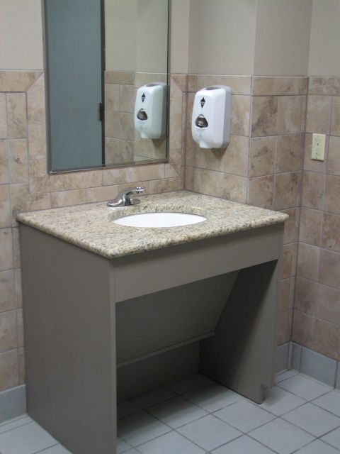 Ada Bathroom Mirror Size ada accessible commercial restrooms in austin, texas | parker's