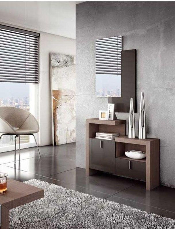 Recibidor moderno recibidor lacado recibidor moderno - Recibidores de casas modernas ...