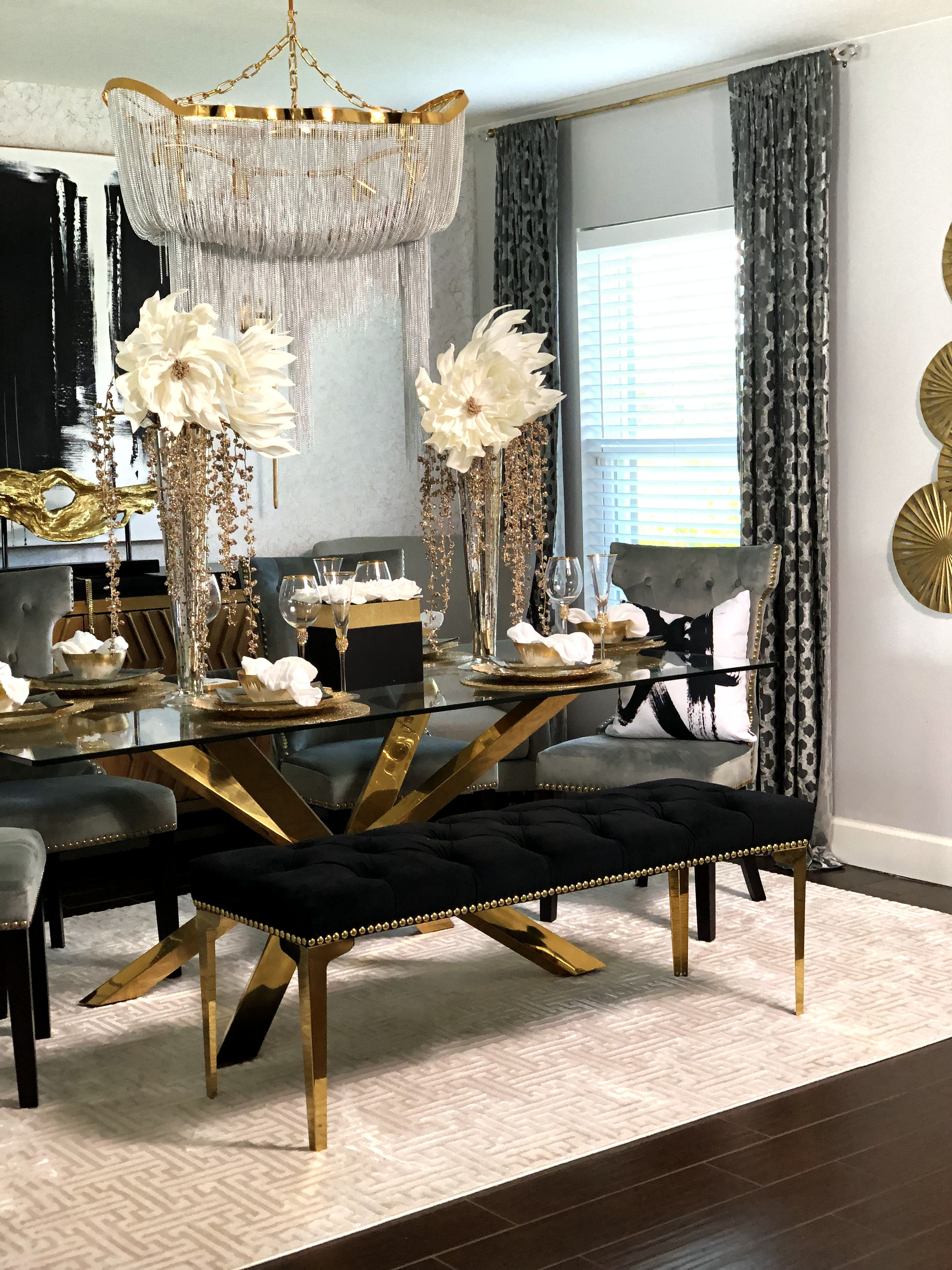 Gold Dinning Table Dining Table In Living Room Gold Living Room Decor Gold Dining Room Elegant living room tables