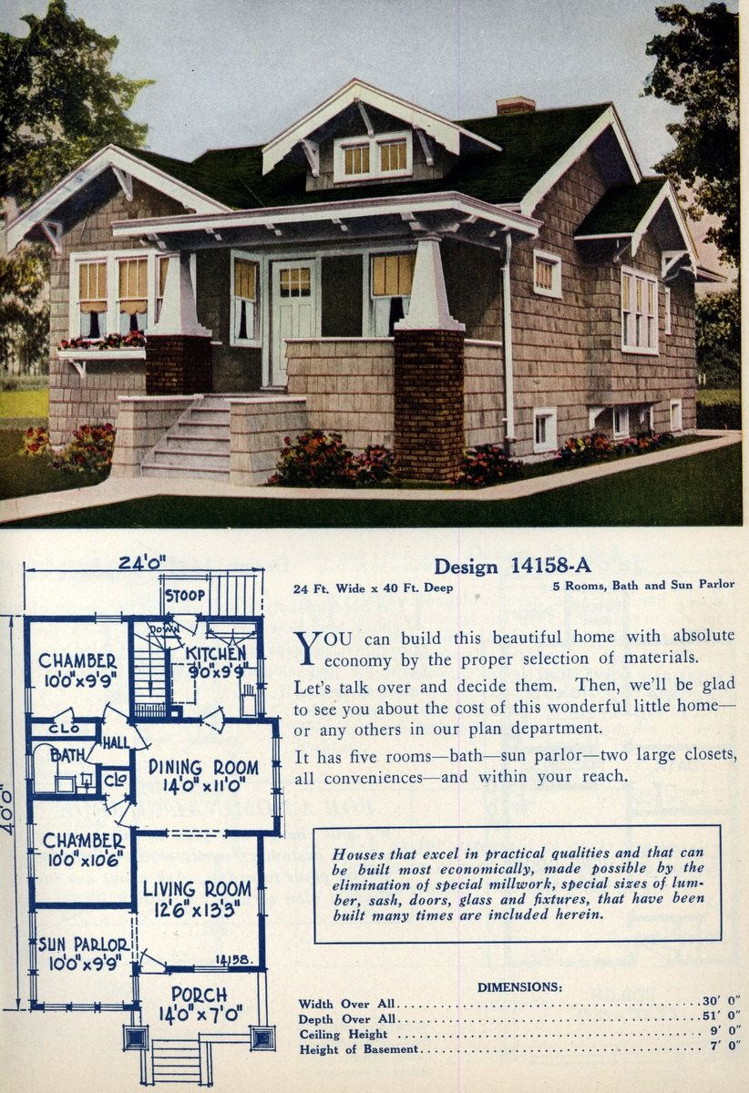 American home designs - Vintage house plans - Click Americana ...