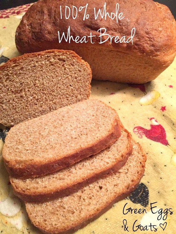 100 Whole Wheat Sandwich Bread