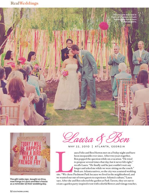 Amy Osaba Event Floral Design Laura Ben Featured In Southern Living Wedding Wedding Atlanta Wedding Photography Ceremony