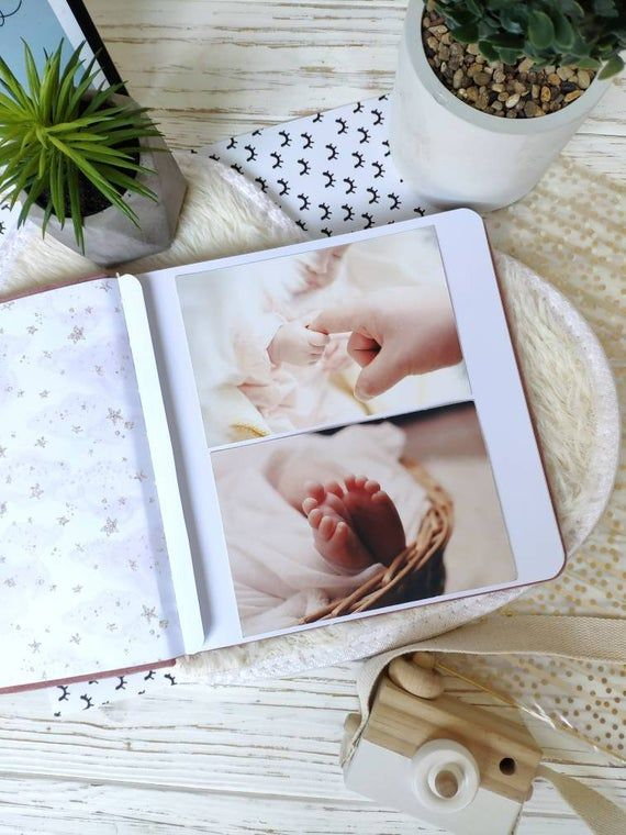 Baby Book Girl - Baby Record Book - Baby Girl Photo Album - Personalized Baby Memory Book Girl- Blush Gold First Birthday Gift Girl #babyrecordbook