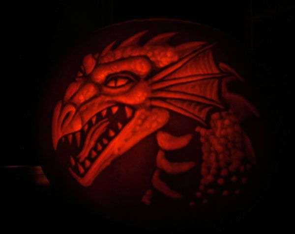 Dragon-head Pumpkin by nudge1 on DeviantArt