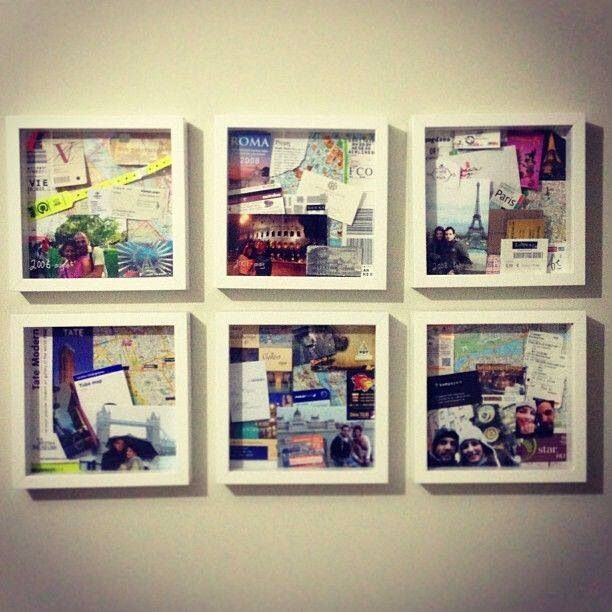 Travel Memorabilia Recreate Travel Wall Travel Memories Travel Shadow Boxes