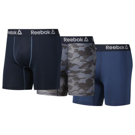 f9d6d94257 Reebok Men's Performance Boxer Briefs - 3 Pack in Navy Size S ...