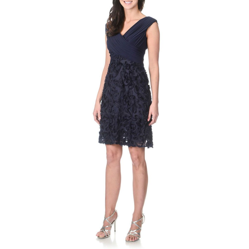 2bf87999feb  199 NWT - PATRA Women s SOUTACHE PARTY COCKTAIL Navy DRESS 12831 SIZE  18   Patra  Cocktail  Cocktail