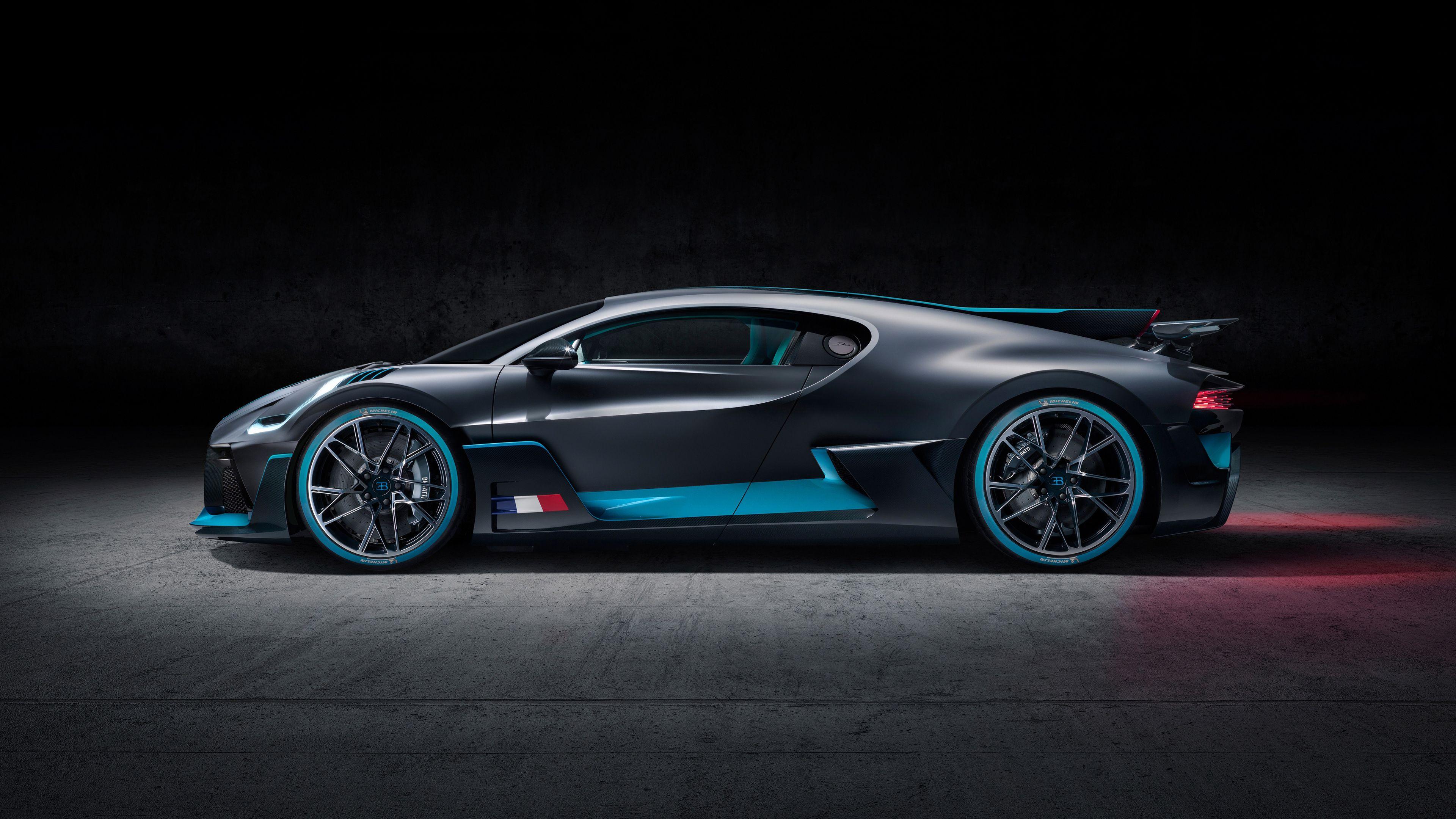 2018 Bugatti Divo Side View Hd Wallpapers Cars Wallpapers Bugatti