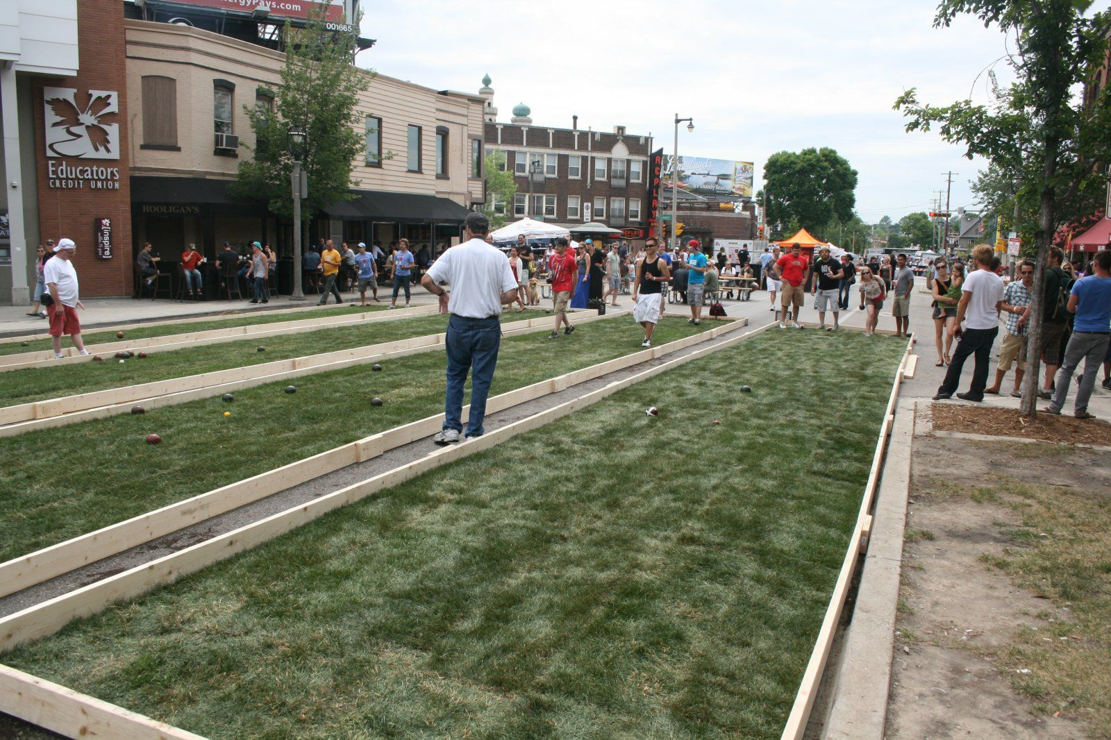 bocce ball courts milwaukee parking lots to parks pinterest