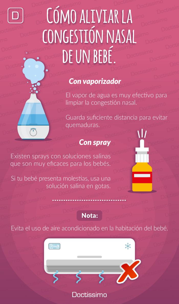 como aliviar la congestion nasal en el embarazo