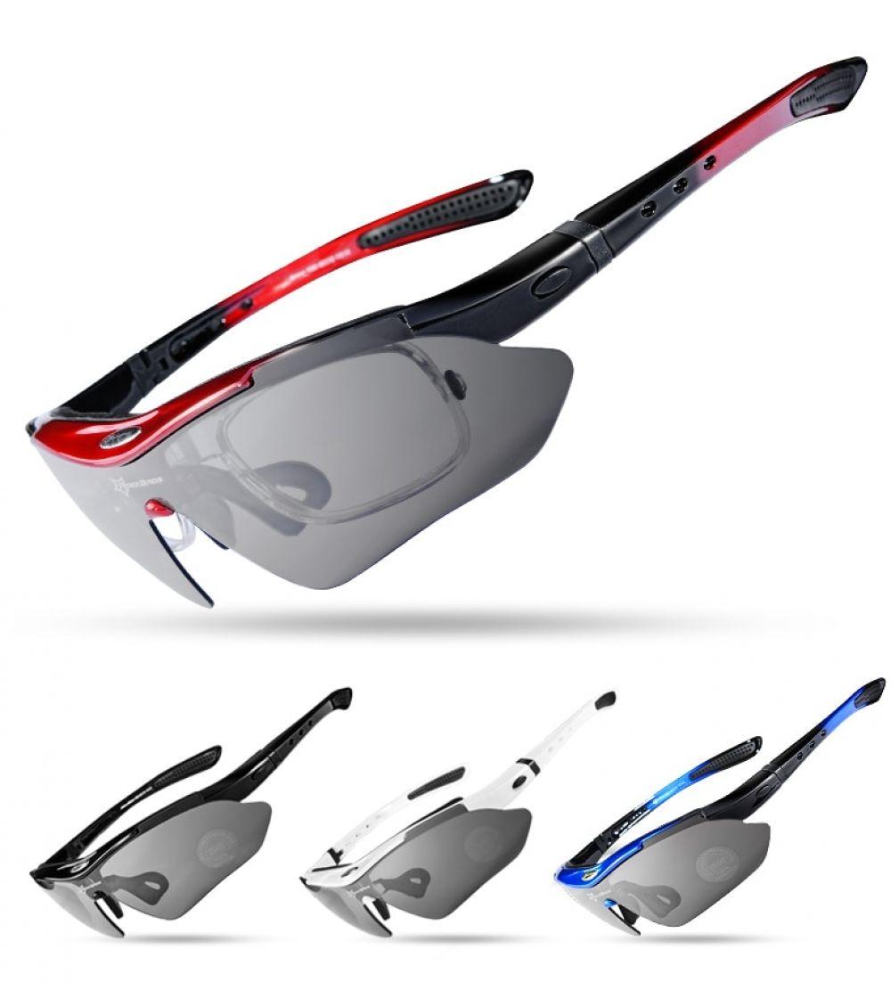 Unisex Sport Polarized Sunglasses with Interchangeable