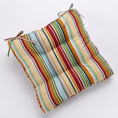 kohls outdoor chair cushions office desk and set argos croft barrow bright stripe pad kohl s