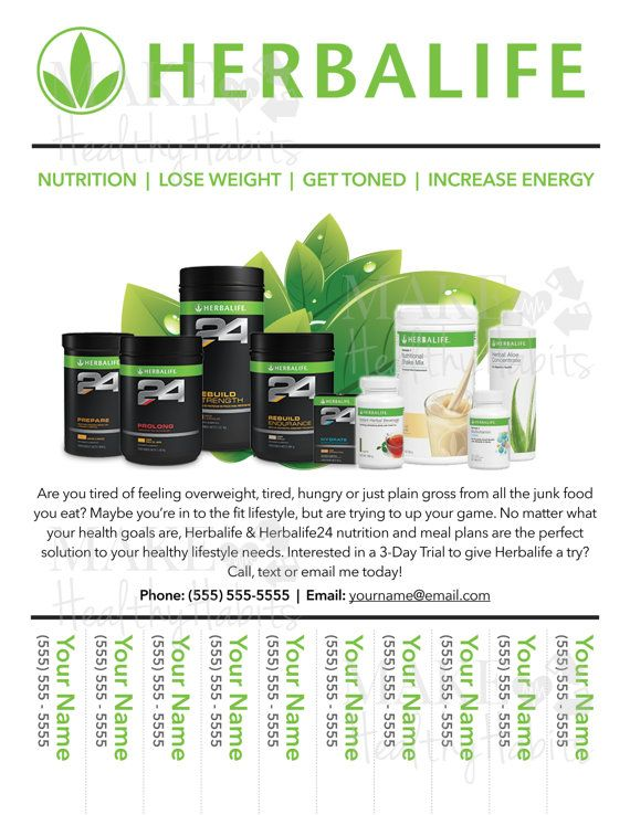 Custom Print-Ready Herbalife Contact Flyer by KellyLynnetteDesigns ...