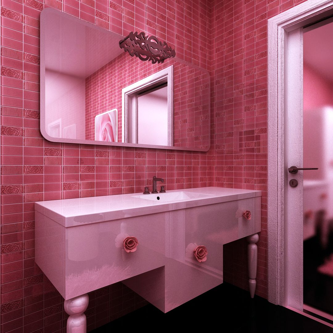 Картинки розовой ванной