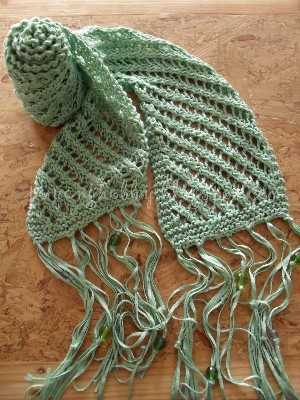 Rajut Free Knitting Pattern Diagonal Lace Scarf I Want To Make