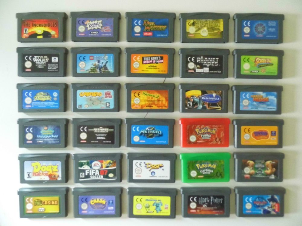 Gameboy Advance Games 50 different TITLES Game