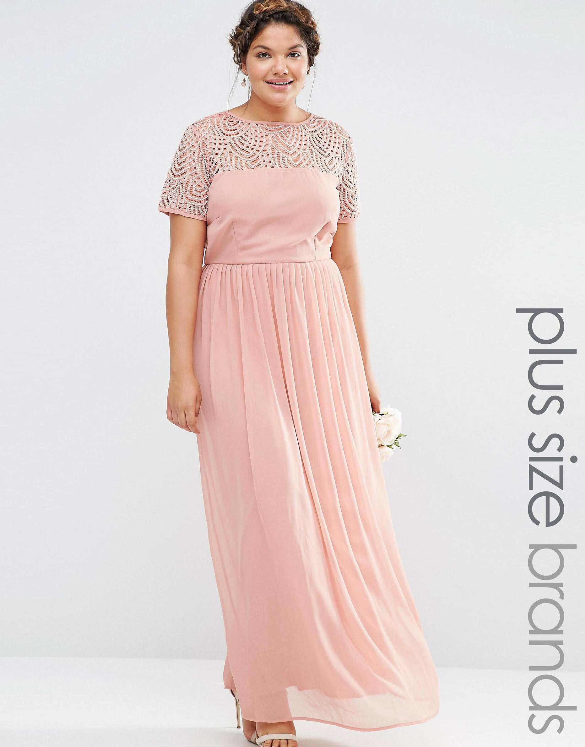 Lovedrobe Luxe Pleated Maxi Dress With Pearl Embellishment