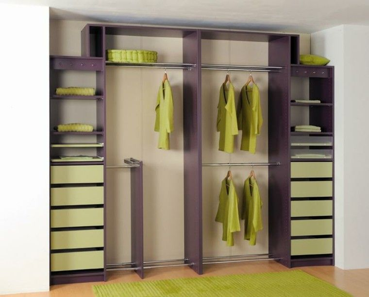 M dulo de vestidor de madera y aluminio closets - Disenar armarios empotrados ...