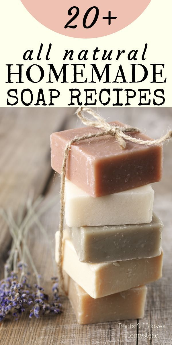 NATURAL SOAP RECIPES. 20+ Homemade all natural homemade bar soap recipes, plus tips and tricks on how to make your own soap at home.