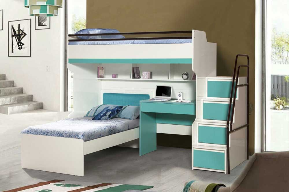 Bueno High Sleeper Bed With Desk And Single Bed In 2018 Bunk Beds