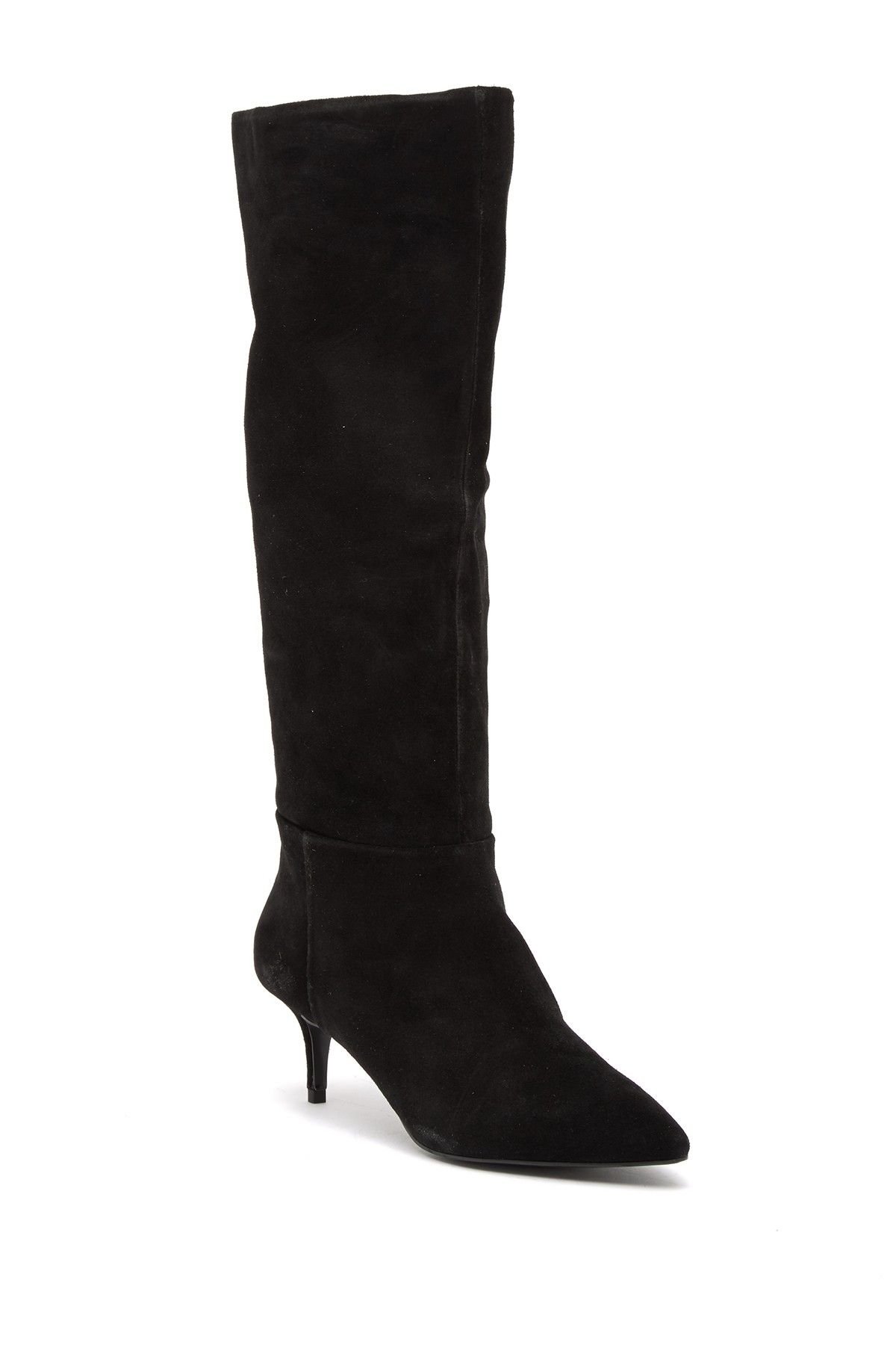 Steven By Steve Madden Kendrick Suede Kitten Heel Knee High Boot Nordstrom Rack Boots Heels High Boots
