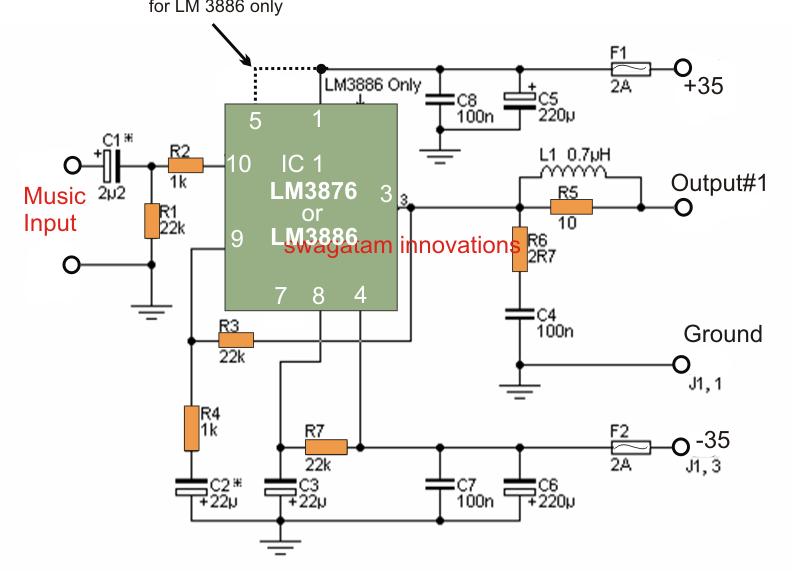 simple 50 watt power amplifier circuit circuits circuit projects