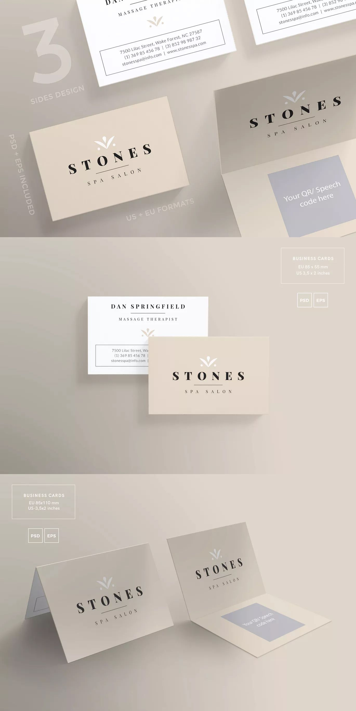 Spa Salon Business Card Template Eps Psd Download Here Https