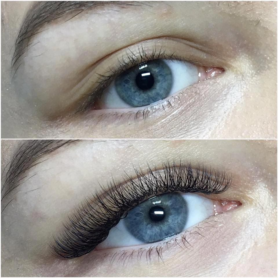 Before and after Natural Look Russian Volume Lashes