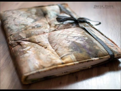 Video tutorial how I create an art-journal.