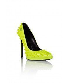 Philipp Plein - Pop Studded Yellow High Heels