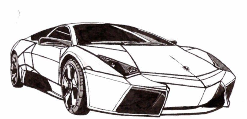Gambar Sketsa Mobil Keren Sketsa Mobil Mobil Lamborghini Sports Car